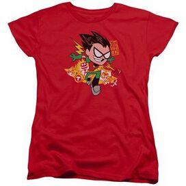 Teen Titans Go Robin Ladies T-Shirt
