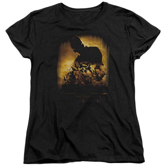 Batman Begins Bats Short Sleeve Womens Tee Black T-Shirt