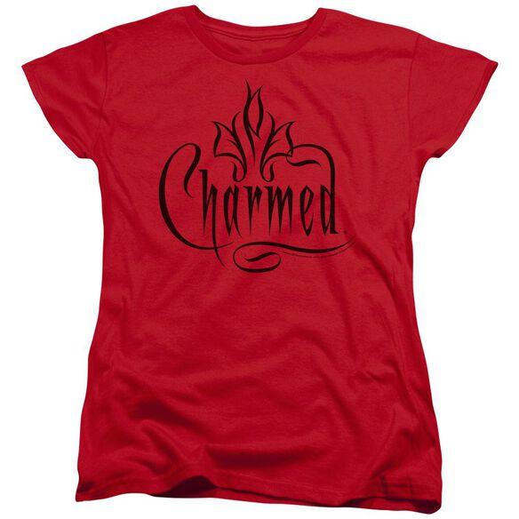 CHARMED CHARMED LOGO - S/S WOMENS TEE - RED T-Shirt
