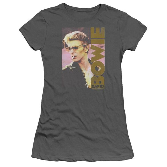 David Bowie Smokin Short Sleeve Junior Sheer T-Shirt