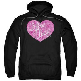 I Love Lucy Floral Logo Adult Pull Over Hoodie