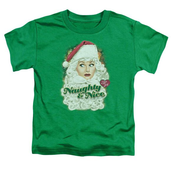 I Love Lucy Santa Short Sleeve Toddler Tee Kelly Green T-Shirt