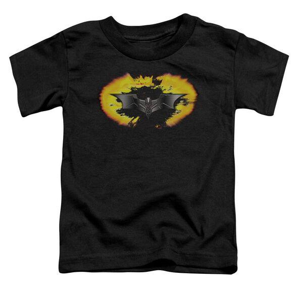 Dark Knight Armor Logo Explosion Short Sleeve Toddler Tee Black T-Shirt