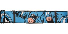 Captain America Poses Blue Seatbelt Belt