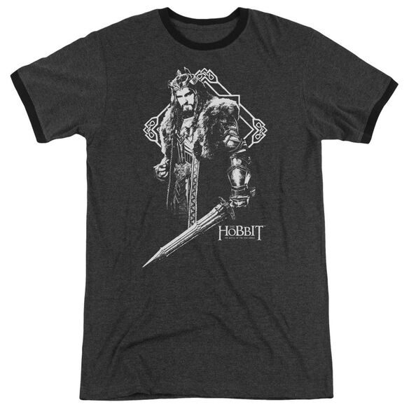 Hobbit King Thorin Adult Heather Ringer Charcoal