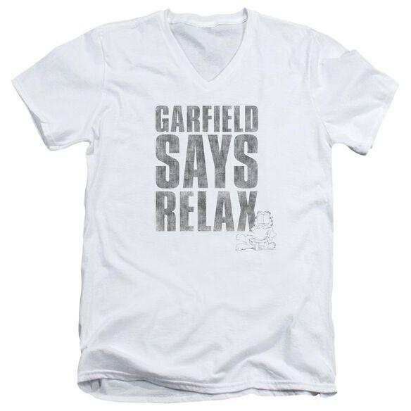 Garfield Relax Short Sleeve Adult V Neck T-Shirt