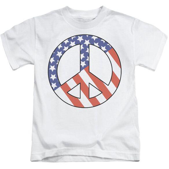 Patriot Peace Short Sleeve Juvenile White Md T-Shirt