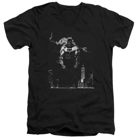 Batman Dirty City Short Sleeve Adult V Neck T-Shirt