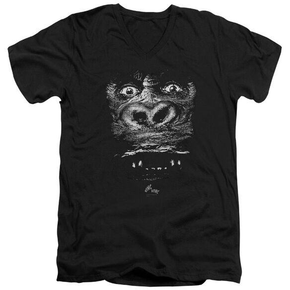 King Kong Up Close Short Sleeve Adult V Neck T-Shirt