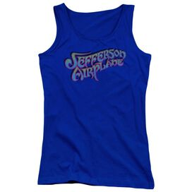 Jefferson Airplane Gradient Logo Juniors Tank Top Royal
