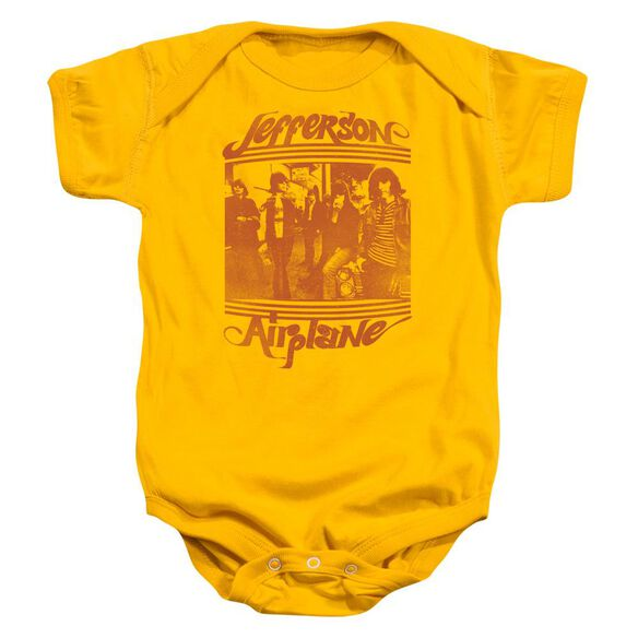 Jefferson Airplane Group Photo Infant Snapsuit Gold