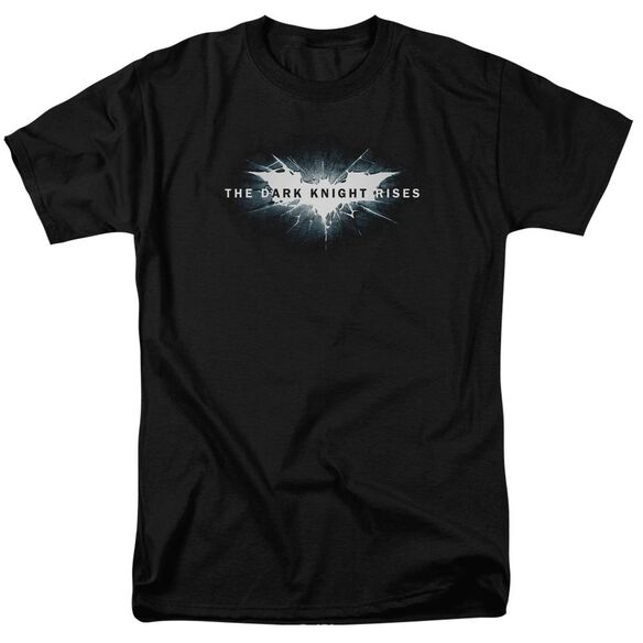 Dark Knight Rises Cracked Bat Logo Short Sleeve Adult T-Shirt
