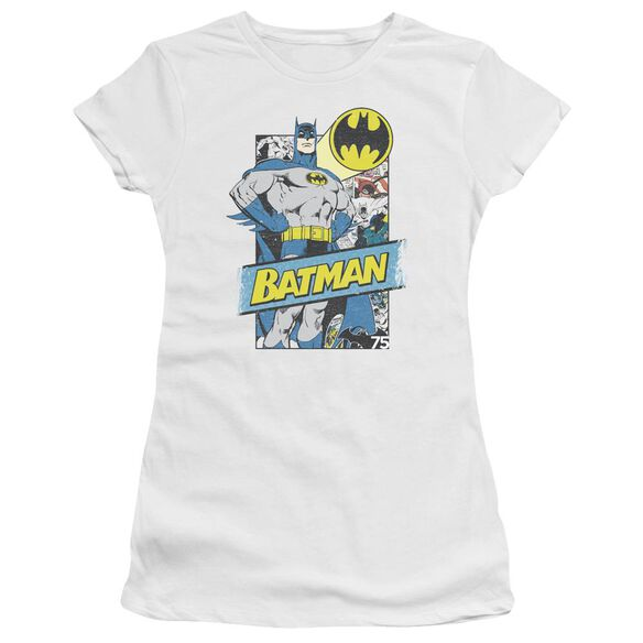 Batman Out Of The Pages Short Sleeve Junior Sheer T-Shirt