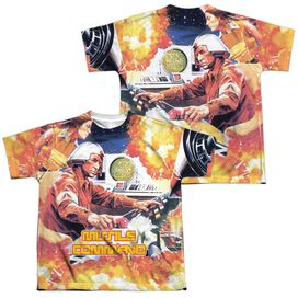 Atari Missle Commander (Front Back Print) Short Sleeve Youth Poly Crew T-Shirt