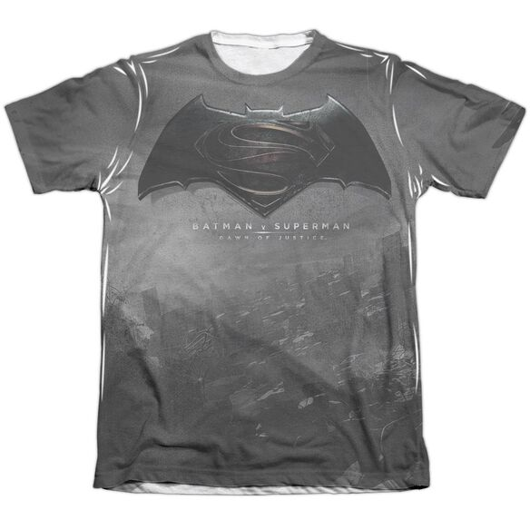 Batman Vs Superman Logo City Adult Poly Cotton Short Sleeve Tee T-Shirt