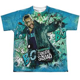 Suicide Squad Boomerang Psychedelic Cartoon Short Sleeve Youth Poly Crew T-Shirt