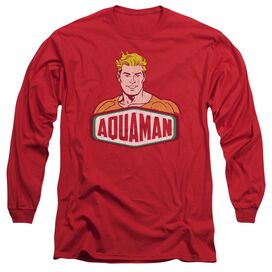 Dco Aquaman Sign Long Sleeve Adult T-Shirt