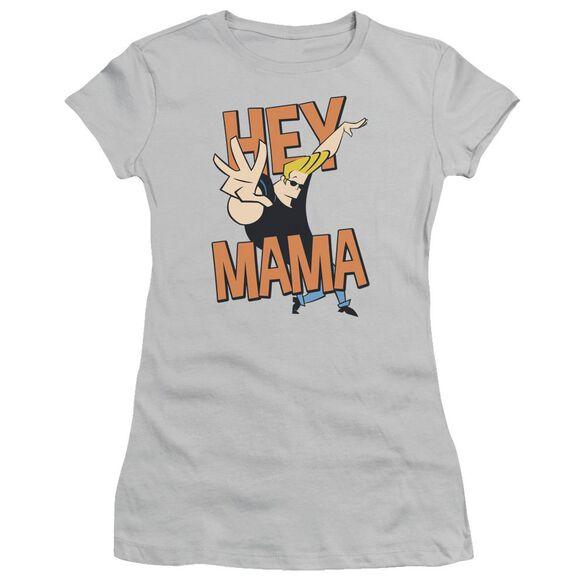 Johnny Bravo Hey Mama Short Sleeve Junior Sheer T-Shirt