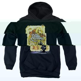 DARK CRYSTAL POSTER-YOUTH PULL-OVER HOODIE - BLACK