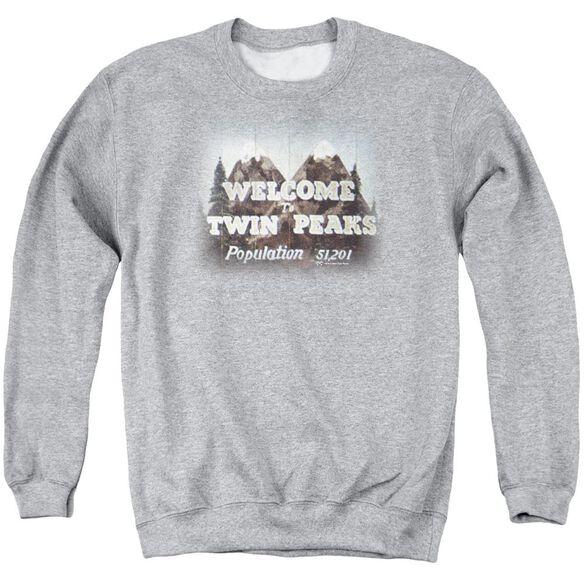 Twin Peaks Welcome To Adult Crewneck Sweatshirt Athletic