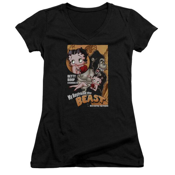 Betty Boop Boyfriend The Beast Junior V Neck T-Shirt