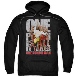 One Punch Man One Punch Is All It Takes Adult Pull Over Hoodie