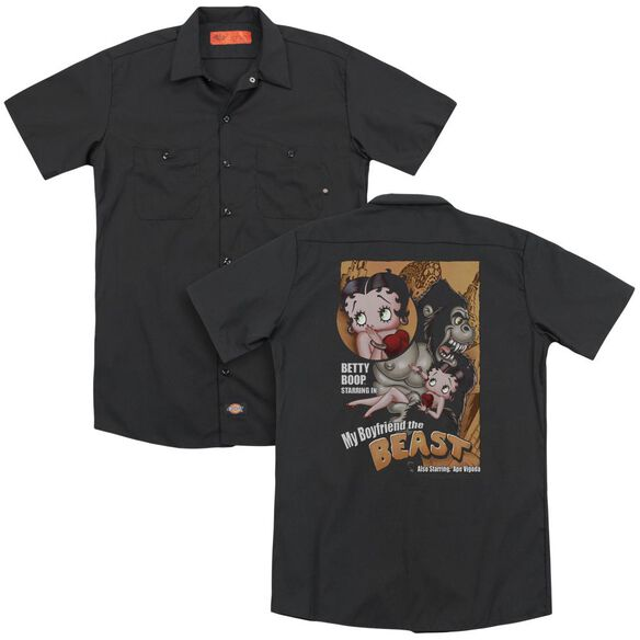 Betty Boop Boyfriend The Beast (Back Print) Adult Work Shirt