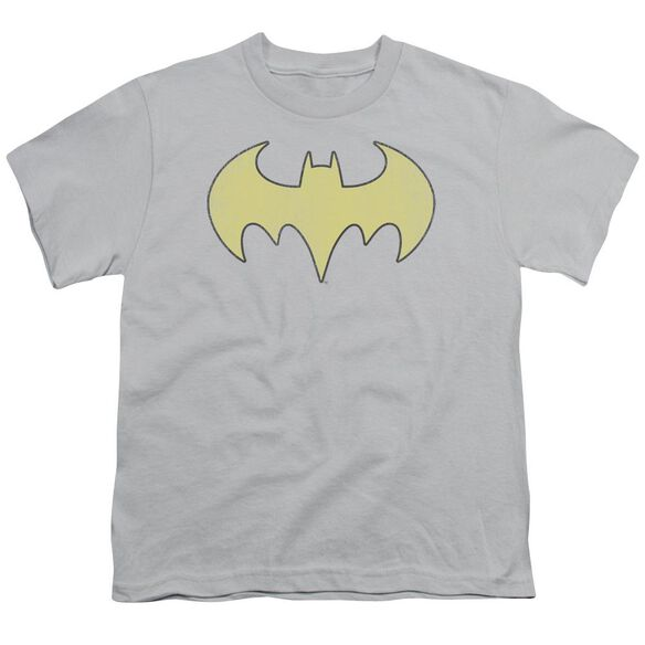 Dc Batgirl Logo Distressed Short Sleeve Youth T-Shirt