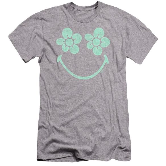 Smiley World Flower Face Premuim Canvas Adult Slim Fit Athletic