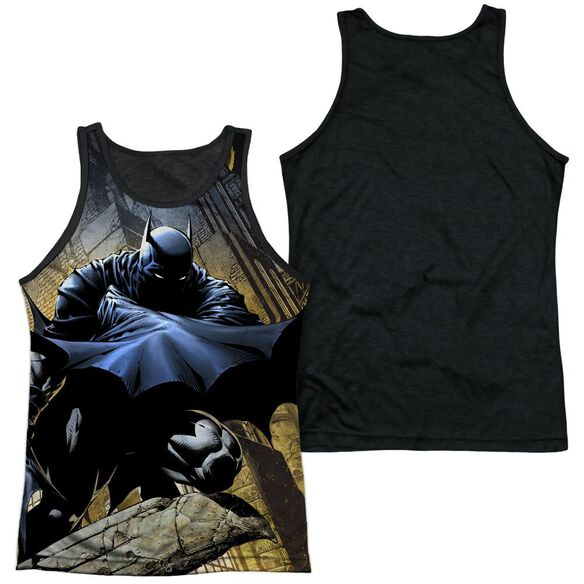 Batman In Shadow Adult Poly Tank Top Black Back
