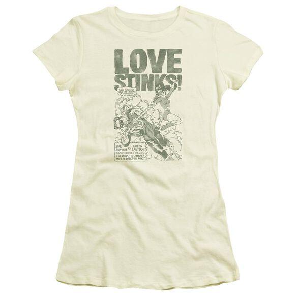 Green Lantern Love Stinks Short Sleeve Junior Sheer T-Shirt