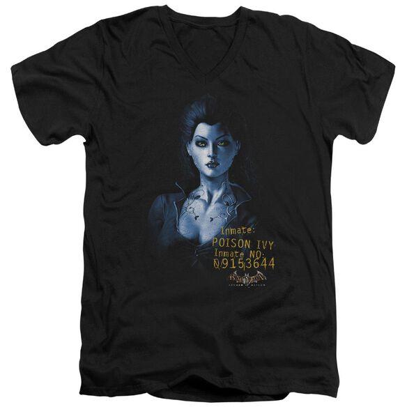 BATMAN AA ARKHAM POISON IVY - S/S ADULT V-NECK - BLACK T-Shirt