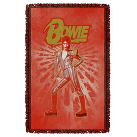 David Bowie Stars Woven Throw