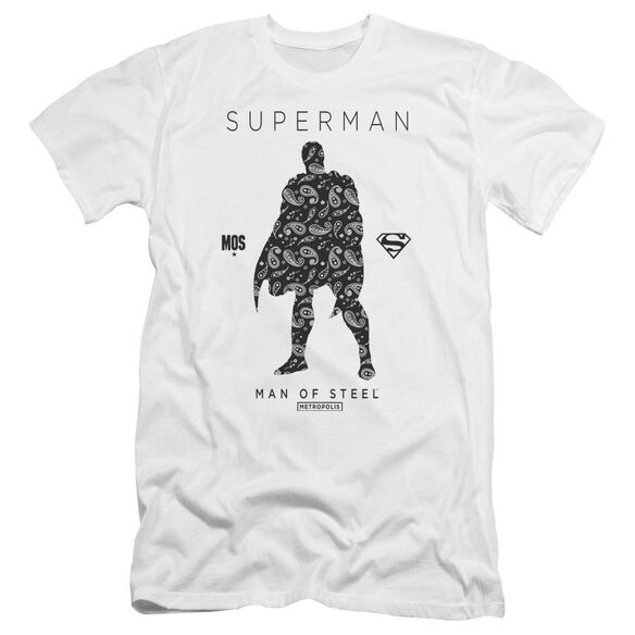 Superman Paisley Sihouette Premuim Canvas Adult Slim Fit