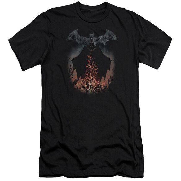 Batman Smoke & Fire Short Sleeve Adult T-Shirt
