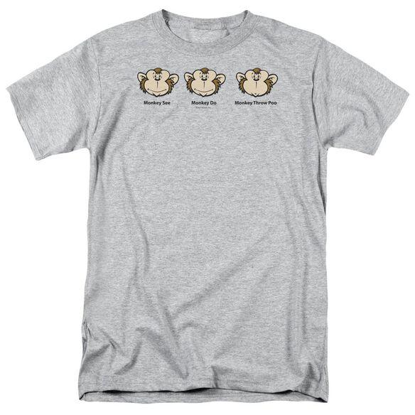 Monkey See... Short Sleeve Adult Athletic T-Shirt