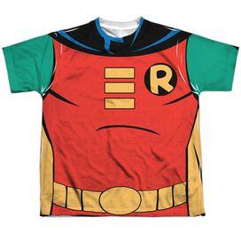 Batman The Animated Series Robin Uniform Short Sleeve Youth Poly Crew T-Shirt