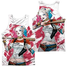 Suicide Squad Harley Drawing (Front Back Print) Adult Poly Tank Top