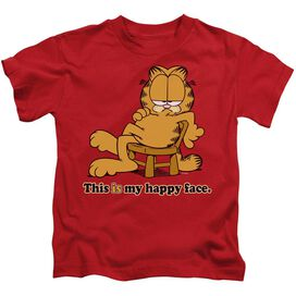 Garfield Happy Face Short Sleeve Juvenile Red Md T-Shirt