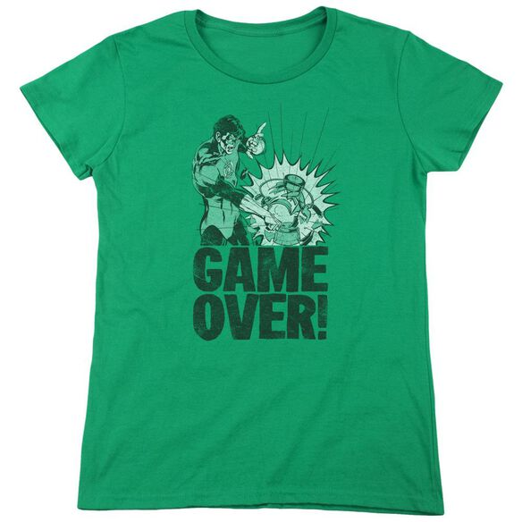 Lantern Game Over Short Sleeve Womens Tee Kelly T-Shirt