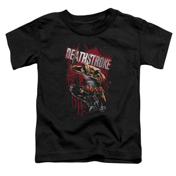 Jla Blood Splattered Short Sleeve Toddler Tee Black T-Shirt