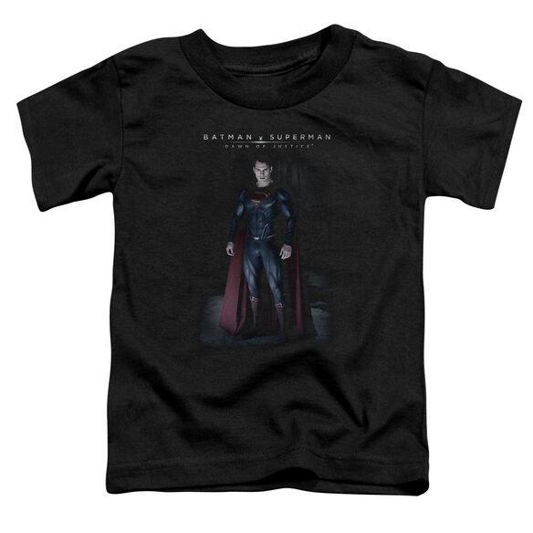 Batman V Superman Stand Tall Short Sleeve Toddler Tee Black T-Shirt