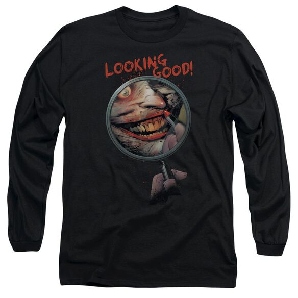 Batman Looking Good Long Sleeve Adult T-Shirt