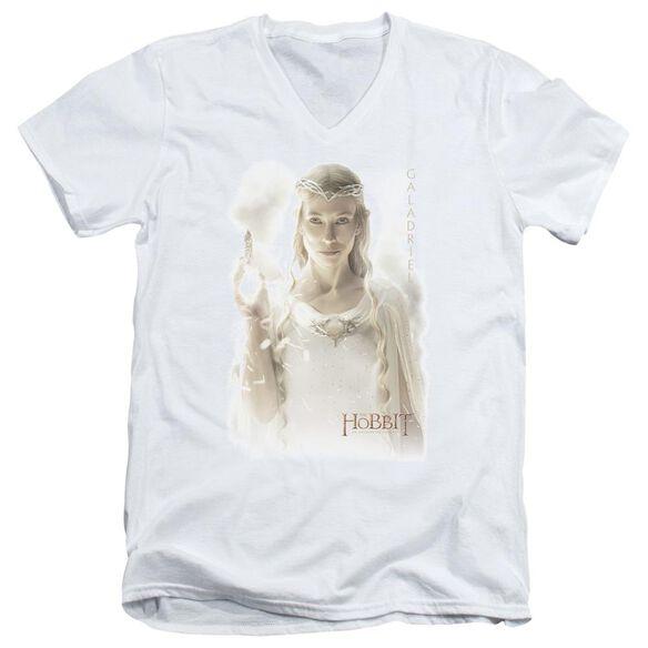 The Hobbit Galadriel Short Sleeve Adult V Neck T-Shirt