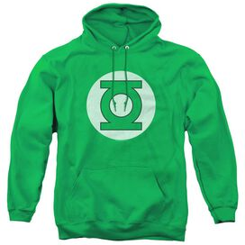 DC GREEN LANTERN LOGO - ADULT PULL-OVER HOODIE - Kelly Green