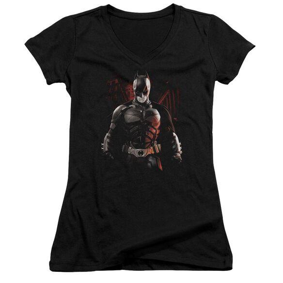Dark Knight Rises Batman Battleground Junior V Neck T-Shirt