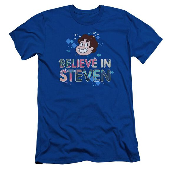Steven Universe Believe Short Sleeve Adult Royal T-Shirt