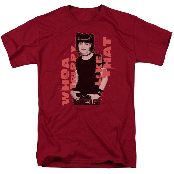 Ncis Trippy Short Sleeve Adult Cardinal T-Shirt