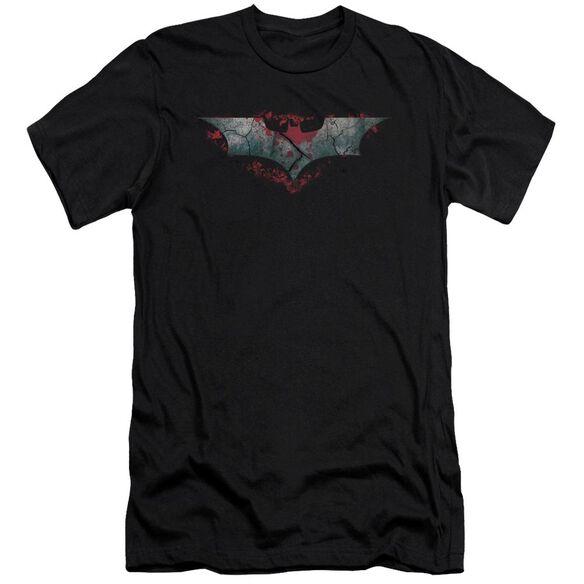 Dark Knight Rises Split & Crack Logo Short Sleeve Adult T-Shirt