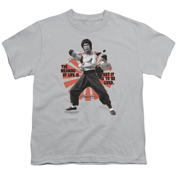 Bruce Lee Meaning Of Life Short Sleeve Youth T-Shirt